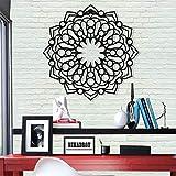 Metal Mandala Wall Art - Diseño de mandala, decoración de pared, decoración de oficina, arte bohemio, decoración de interiores, escultura de metal (44 x 44 cm)