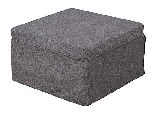 Convenience Concepts Designs4Comfort Folding Bed Ottoman, Soft Gray Fabric