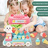 SunYueY Kids Simulation Light Music Electric Candy Ice Cream Car Pretend Play Game Toy, Intellectual Toy Gift Set Multicolor