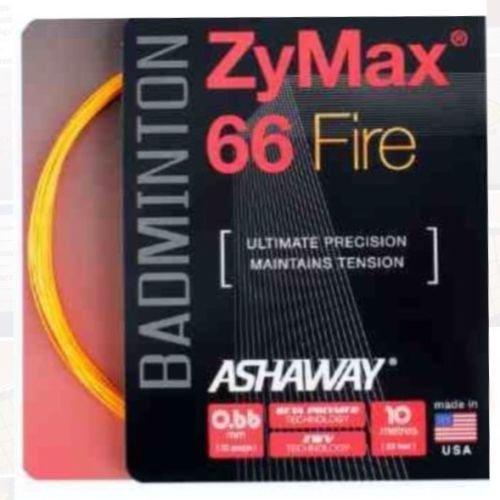 ASHAWAY ZyMax 66Fire Badminton String–3x 10m Sets