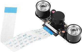 5 Megapixels Camera Module Board Night Vision 130° Viewing Angle Wide-Angle Lens OV5647 Sensor Adjustable Focus Camera Module Board for Raspberry Pi B 3/2