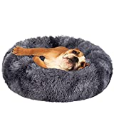 JOEJOY Dog Bed Cat Bed, Calming Orthopedic Pet Puppy Bed Donut Cuddler Machine Washable Ultra Soft Faux Fur for Small Medium Breed Dogs Cats
