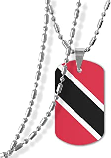 Flag Of Trinidad And Tobago Dog Tag Pendants Necklace Cat
