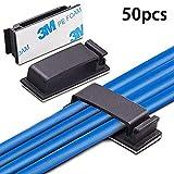 Gaosheng 50 STÜCK Selbstklebende Elektrische Draht Clips Kabel Clips Halter Schreibtisch Kabel...