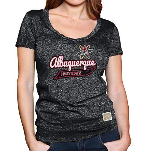 Original Retro Brand Minor League Baseball Albuquerque Isotopes Damen T-Shirt, RB1726-Black, Größe S