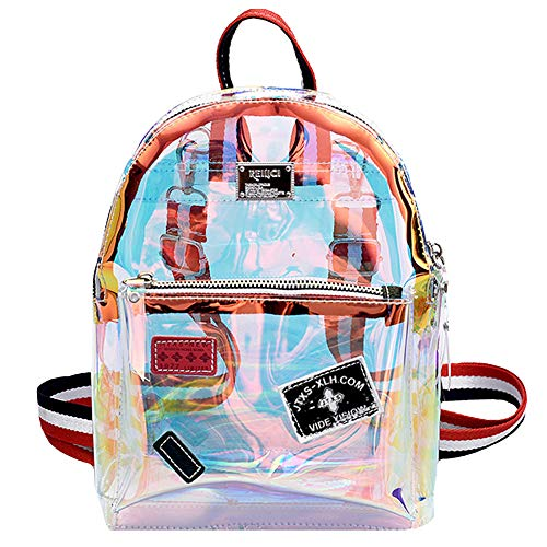 Goodbag Boutique Fashion Hologram Mochila de piel con láser, brillante, mochila escolar, (03886jelly Transparent), Talla única