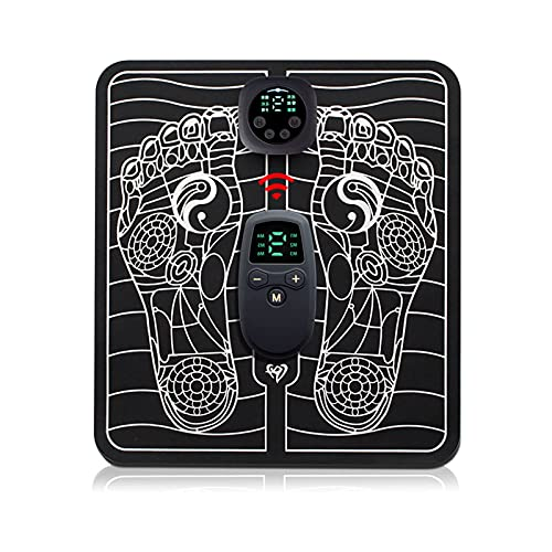 Komake EMS Fußmassagegerät Elektrisches, EMS Leg Reshaping Foot Massager, 6 Modi, 9 Intensitätsstufen,Faltbare Tragbare USB Wiederaufladbares Elektrisches...