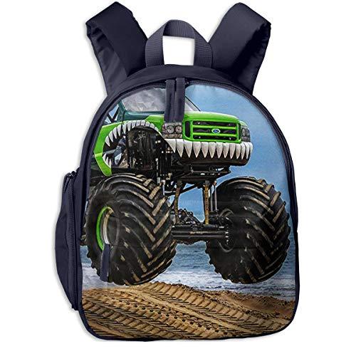 Kinderrucksack Monster Truck Riesenrad, Schulrucksack Für Mädchen Und Jungen Schultasche Schulranzen Teenager Backpack Daypack Freizeitrucksack Kinder Rucksack