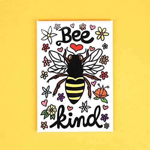 Bee Kind safety Rectangle Magnet security Fridge