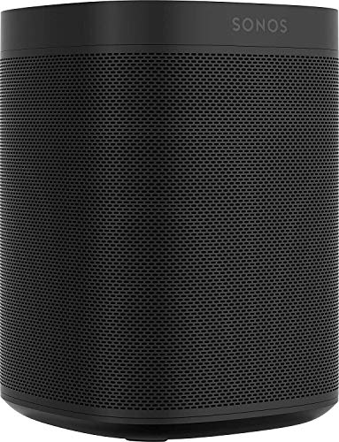 Sonos One (Gen 2) - Voice Controlled Smart Speaker with Amazon Alexa Built-in - Black (ONEG2US1BLK)