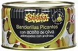 Sarasa Banderilla en Aceite y Anchoa Natural - Paquete de 6 x 350 gr - Total: 2100 gr