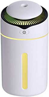 Mini USB Aroma Essential Oil Diffuser Ultrasonic Cool Mist Humidifier Air Purifier LED Night Light Office Home Car Fogger Mist (Color : White)