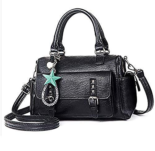 YXLYLL Women's Barrel Handbag and Tote Purses Bag - Casual Soft Leather Handbag B