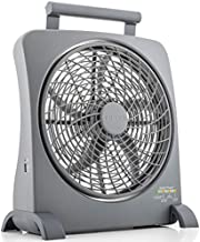 O2COOL Treva Portable Battery Operated Fan – 10 Inch Blades - Smart Power Air Circulator with Plug-In AC Adapter, Rechargeable Batteries and USB Charging Port – For Camping, Travel and Indoors Use