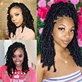 Butterfly Locs 100% Handmade Crochet Hair 6 Packs/Batch 14 Inches 72 Strands The Most Natural Crochet Hair Extensions New Fashion In 2021 (14 inches, 1B)