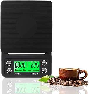 مقياس قهوة مع مؤقت من ديد اتش جي، مقياس طعام للمطبخ عالي الدقة مع وظيفة تفريغ