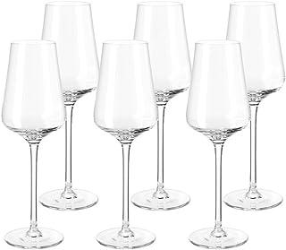 Leonardo Puccini Digestif-Gläser, Schnaps-Glas mit gezogenem Stiel, spülmaschinenfeste Likör-Gläser, 6er Set,220 ml, 10 cl, 069556