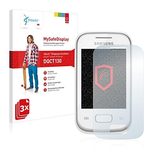 Vikuiti DQCT130 Samsung GT-S5301 Schutzfolie von 3M [3er Set] kristallklare Displayschutzfolie Folie Displayfolie