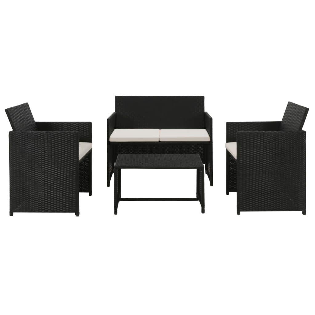 Festnight - Conjunto de sofá de jardín de Resina Trenzada, Color Negro, Muebles de jardín: Amazon.es: Hogar
