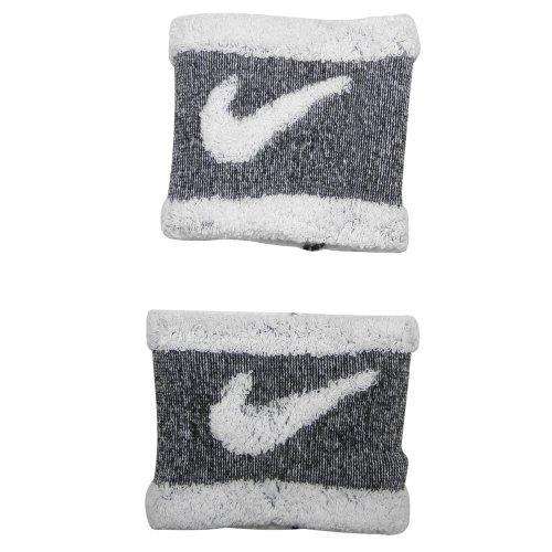 Nike Hommes adultes Sweat Bracelets swoosh-One-Size Blanc-Gris