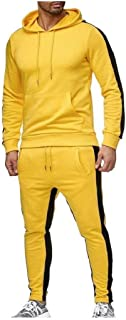 neveraway Men's Hooded Tapered Assorted Colors Casual Baggy Tracksuit Jog Set