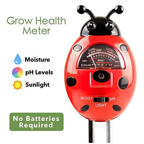 Lowest Price! BestNova Soil pH Meter, 3-in-1 Soil Tester Kits with Moisture,Light and PH Test for Ga...