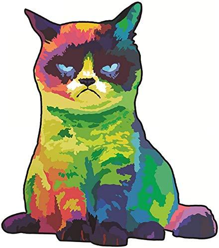 WQF Holzpuzzle-Puzzle, Regenbogenkatze 3D Einzigartiges Tierpuzzle, Buntes Tierform-Puzzleteil Puzzle-Brettspielzeug, Erwachsene und Kinder Family Game Play Collection