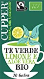 CUPPER Tè Verde Limone e Aloe Vera Biologico Fairtrade 20 bustine