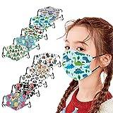 Lulupi 10 Stück Kinder Mundschutz aus Baumwolle, waschbar