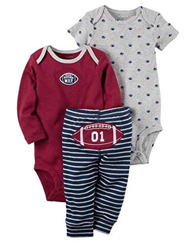 Carter 's S), color rojo y gris impreso de monos con Turn Me alrededor de detalle Pant Set, 9 meses, rojo, gris, azul marino