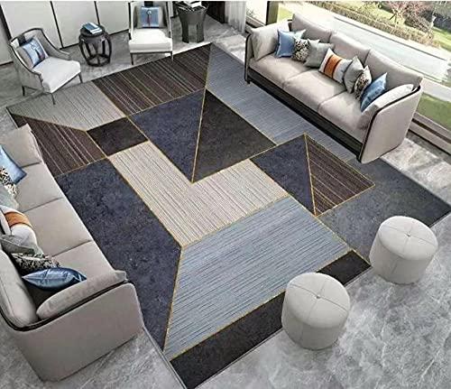 Sala de Estar de alfombras Grandes, alfombras Antideslizantes, alfombras Modernas Suaves adecuadas para la decoración del hogar-Color de café Gris_50x80cm