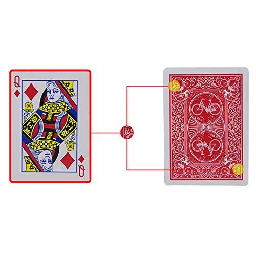 SHENGLIN Pokerkarten, geheime Markierung, durchsichtige Spielkarten, magische Spielzeuge, einfache Aber unerwartete Zaubertricks
