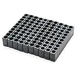 JETEHO 10 Holes Plastic Screwdriver Head Storage Case Hex Shank Screwdriver Bit Holder,10 Pcs