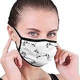 Handgezeichnete Dackel lustige Mund Maske Unisex Erwachsene Polyester Mode niedlich Gesicht Abdeckung Anti Verschmutzung Staubmaske wiederverwendbar für W