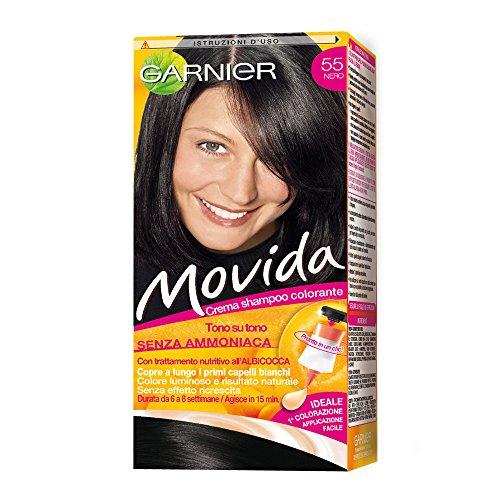 Haarfärbemittel Semi Permanent Farbe Movida N 55 schwarz