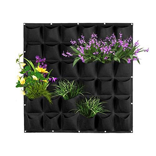 36 Bolsillos Bolsas para Plantas de Pared - Jardinera Vertical de Jardín...
