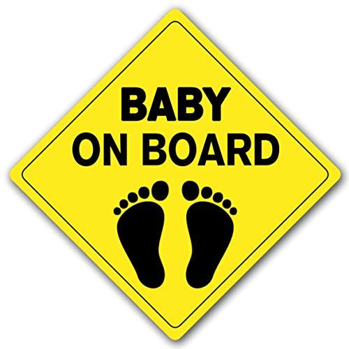 STROBO Baby on Board 10x10cm Baby an Bord Magnetschild Magnetfolie