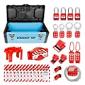 WISAMIC Valve Lockout Tagout Kit: with Loto Tag Cable Hasp Ball Gate Valve Padlock Breaker Lock Out Tag Out Box Set by WISAMIC