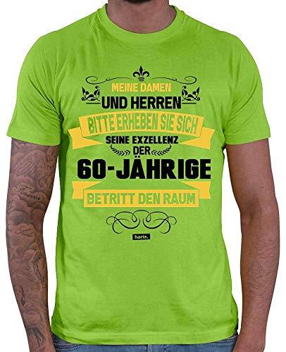 Hariz – Camiseta para hombre y mujer de los 60 años de edad, con tarjeta de regalo verde claro XXL