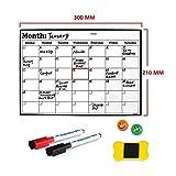 A4 Pizarra de borrado en seco Heavy Duty magnética Calendario mensual Frigorífico Durable Hecha Material de Superficie (Color : Option 1)