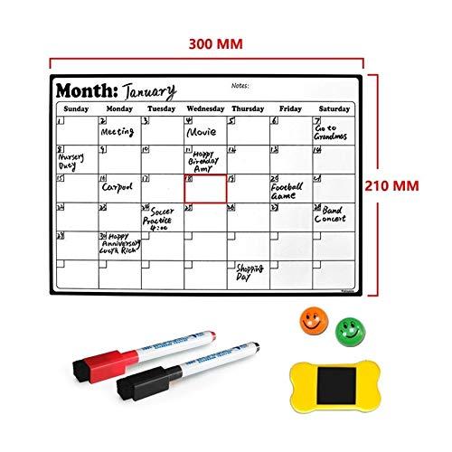 A4 Whiteboard Dry Erase Heavy Duty Magnetic Maandelijks Koelkast Kalender Duurzaam gemaakt van de hoogste kwaliteit Surface Material (Color : Option 1)