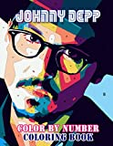 Johnny Depp Color By Number: Legendary Pirates Jack Sparrow Actor Inspired Color Number Book for Fans Adults Creativity Gift