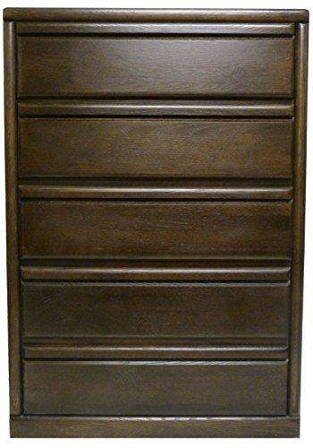Forest Designs Bullnose Five Drawer Chest: 34W x 48H x 18D 34w x 48w x 18d Golden Oak