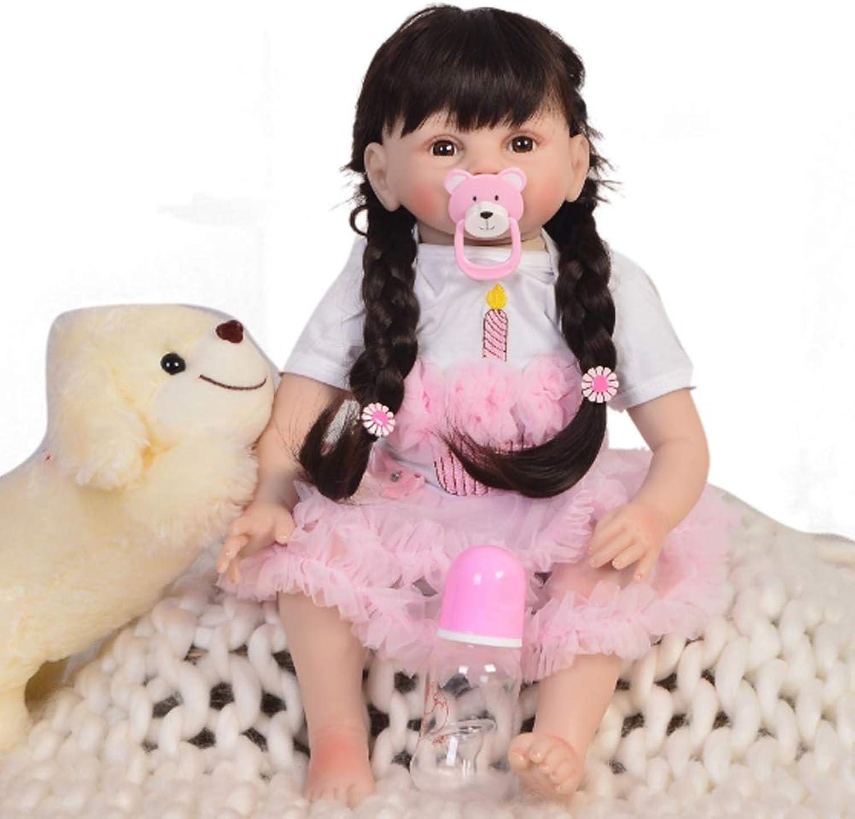 NACHEN Reborn Doll 55cm Simulation Baby Big Eyes Cute Body Silikon Long Hair Prinzessin Kinder Geburtstag Puppen