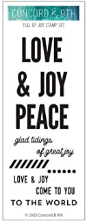 Concord & 9th Clear Stamps 2X6 O, Full Of Joy