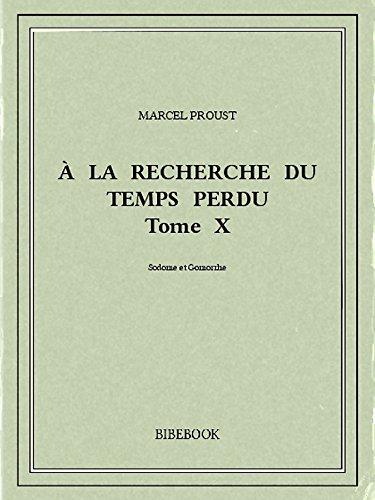 Couverture du livre À la recherche du temps perdu X
