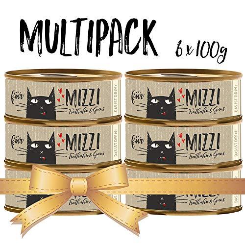 seit 1893 Bubeck Katzenfutter getreidefrei | mit Truthahn & Gans | hochwertiges Katzenfutter | 6 x 100g | Katzennassfutter Adult | hoher Fleischanteil
