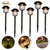 ANGMLN Solar Garden Lights Lamp Outdoor Stake Path Lighting 6 Pack Solar Lantern Waterproof IP44 for Outdoor...