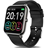 Rinsmola Smartwatch Orologio Fitness Uomo Donna Smart Watch 1,4'' Full Touch Contapassi Cardiofrequenzimetro, Sportivo Activity Tracker Cronometro, Notifiche Messaggi, Controller Fotocamera Musicale