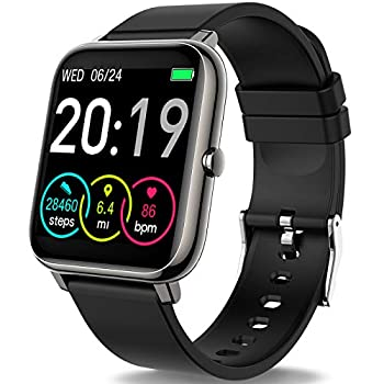 Smart Watch Fitness Tracker with 1.4inch Full Touch Screen Smartwatch for Men Women Sleep Monitor Step/Calorie Counter Activity Tracker Stopwatch IP67 Waterproof Fitness Watch for iOS Android